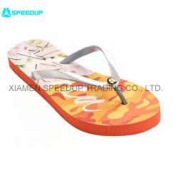 Diseño personalizado de la correa de PVC o PE EVA Suela Dama zapatillas