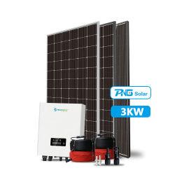 Piccola potenza solare 3kw su sistema di energia a griglia a basso costo