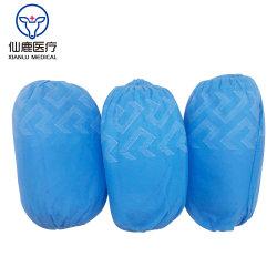 Jetable en polypropylène PP/Surchaussure Non-Woven, avec l'impression / antidérapante antidérapant sur la seule