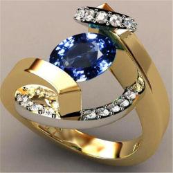 As mulheres de Cristal Natural geométrica de moda do anel da senhora charme feminino do anel de ouro jóias de Casamento Acessórios