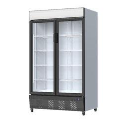 Vertical Defrosting Refrigerated Showcase Commercial Ice-Cream Glass deurvriezer