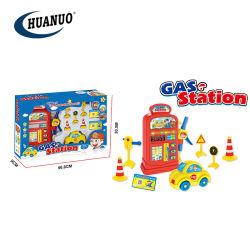Nouveau drôle de simulation de la station essence bricolage jouet en plastique de la station de gaz