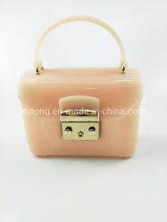 Novo e elegante geleia Rosa Senhoras Bag Fashion Candy mala