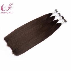 Nano先端のポニーテールの毛の拡張人間の毛髪のRemyのロシアかモンゴルの毛