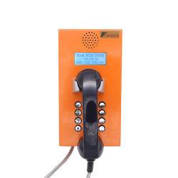 Dispositivo de sabotaje de la cárcel preso teléfono teléfono a prueba de vandalismo con bloqueo