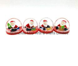 OEM en plastique de Noël Boule à neige de la 3D Bonhomme de neige à l'intérieur de la neige en plastique des dômes