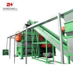 مصنع مسحوق مطاطي كبير السعة لتهشم إطارات السيارات/الشاحنات/المارة البالية/الخردة الكاملة