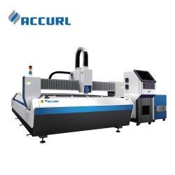 500W máquina de corte de fibra a laser CNC para 2,5mm de Aço Inoxidável