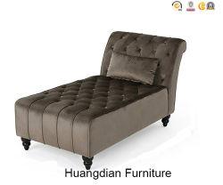 Salon moderne Meubles de salle de réception profonde chaise en velours gris