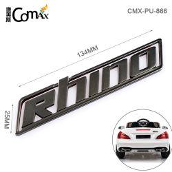 Alliage de zinc Matt Gunmetal logo en métal avec plaque de nom de voiture adhésif 3M