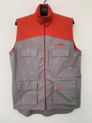 Vêtements de travail uniforme de supermarché avec service d'OEM, coton sergé Vest, gilet