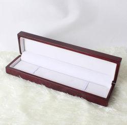 الشركة المصنعة تبيع صندوق تغليف Spot Pearl Necklace Box Bracelet صندوق مجوهرات خشبي مطلي باللكر
