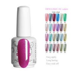 Etiqueta Privada Gelish OEM UV Gel Glitter Colores Esmalte de uñas Nail Arts Proveedor
