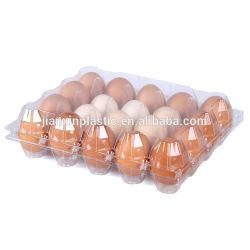 Cassetto di plastica di plastica libero dell'imballaggio della scatola delle uova per le uova