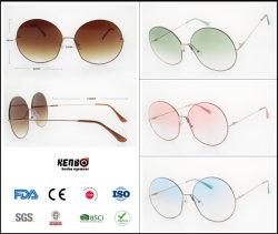 2019 de Nieuwe Zonnebril van de Tendens van de Manier van het Metaal Beste Verkopende met Slanke Rand, Populair Merk Eyewear, Toebehoren