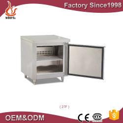 Equipamento de cozinha comercial de aço inoxidável refrigerados de Porta Única Superfície