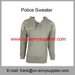 Bon marché de gros de la Chine militaire Officier de Police de la laine Polyester Pull