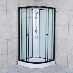 2021개의 스팀 샤워실과 블랙 알루미늄
