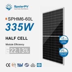 Niveau 1 de la moitié des cellules Cellule OEM 120335W 340W Prix panneau solaire