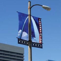 Aço inoxidável Metal Street Pole Publicidade assinar a haste (BT17)