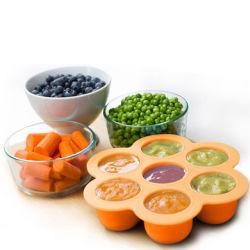 Vassoio contenitore per alimenti per bambini senza BPA in silicone per congelamento e conservazione Stampo per ghiaccio