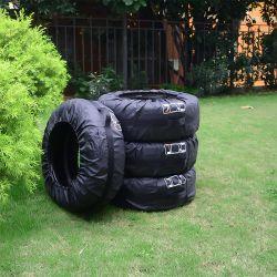까만 PVC 방수 차 타이어 덮개