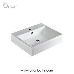 Une véritable salle de bains Wc Type de table carrée en céramique sanitaire du bassin d'art