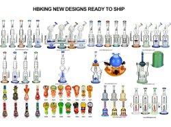 All'ingrosso Lookah stile vetro tubo acqua Big Tall colorato DAB Tubo di fumo in vetro RIG Recycler