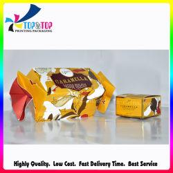 Diseño personalizado impreso amarillo forma dulces especiales Caja de papel de embalaje
