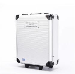 Chiave a bussola multiuso professionale di combinazione impostata con il contenitore di alluminio di valigia