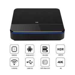 매우 4K HD Amlogic S905X2 인조 인간 텔레비젼 상자 9.1