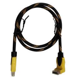 Maschio del cavo del cavo 1.4V TV di HDMI al maschio una spina da 90 gradi (HD-013)