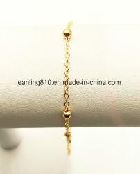 球ビーズ端末ケーブルの鎖のアンクレットのブレスレットの方法宝石類