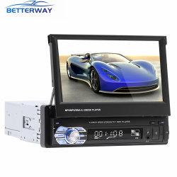 Radio 1 DIN Autoradio escamoteable pantalla capacitiva de 7 pulgadas de pantalla digital Bluetooth USB SD FM radio de coche reproductor de MP5 Multimedia