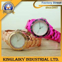 다채로운 도금 (KW-013)를 가진 유행 실리콘 시계 부속품
