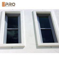 De style européen et américain Revêtement Poudre de double vitrage double Hung fenêtres en aluminium Fenêtre unique en verre trempé Hung