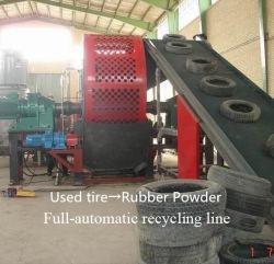 Zps800 Full automatic Triturador de pneus usados para máquina de reciclagem de Pneus