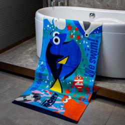 100% algodão toalha de praia de impressão personalizado, toalha de piscina