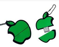 PVC, Apple USB OEM forme des fruits, cadeau promotionnel USB USB
