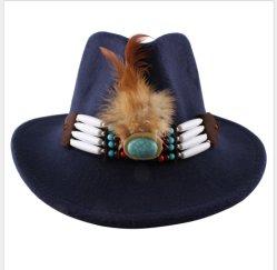 기털 모자 영국 재즈 모피 모자 가을과 겨울 중절모