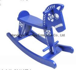 Nouveau design Horse-Blue bascule en bois et de Cheval à bascule en porcelaine blanche