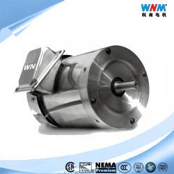 Ns CSA NEMA premium eficiência elétrica CA Direito Lavagem máquina de alimentar o motor de Aço Inoxidável Tefc Tenv C enfrentar 1/4~30HP 460V60Hz Ns-56c 1/4HP