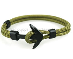 Custom Fashion Metal Boat Anchor Polyester Armband