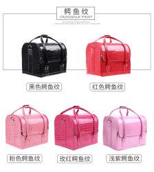 Косметический случае розовый макияж случае/ Окно провод фиолетового цвета кожи в салоне