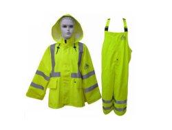 反フレームの不浸透性帯電防止こんにちはすなわちReflecive防水PU Rainsuitの安全摩耗かTraje