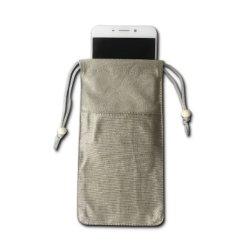 Dekking van de Telefoon van het Bewijs van de Straling van zwangere Vrouwen de Mobiele de Zilveren Zak van de Beveiliging van de Vezel het Anti Elektromagnetische Signaal van de Golf de Universele Mobiele Telefoon van het Bewijs van de Straling van de Telefoon