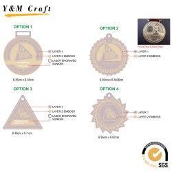 Sem quantidade mínima de Medalha de metal de alta qualidade Personalizada Fita Medalha Militar