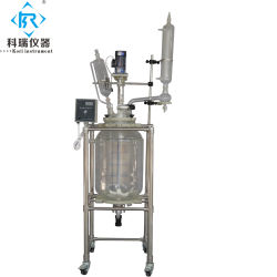 reattore mescolantesi di vetro chimico del riscaldamento del rivestimento di prezzi all'ingrosso della fabbrica 50L