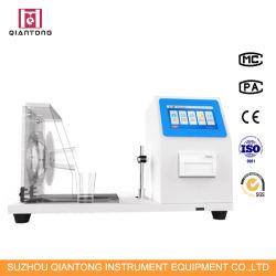 Sangue sintético sobre vestuário matérias máquina de ensaio