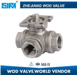 2018 трех ходовой шаровой клапан в соответствии с ISO 5211 монтажную площадку нового 3 ходовой шаровой клапан